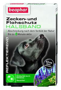 Beaphar Zecken- und Flohschutz Halsband 65 cm für Hunde - reflektierend -