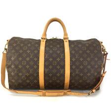 Auth Louis Vuitton Monogram Keepall Bandouliere 50 Boston Travel Hand Bag /30627