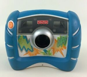 Kid Tough Digital Camera Toy Blue Lightning Fisher Price 2006 with Batteries