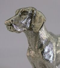 QUALITY ENGLISH SILVER PLATED FOXHOUND DOG c1950s DECENT SIZE HUNTING
