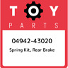 04942-43020 Toyota Spring kit, rear brake 0494243020, New Genuine OEM Part