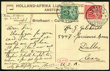 Gold Coast 1932 (Apr.12) RP HOLLAND-AFRIKA LIJN PPC with KGV ½d & 1½d