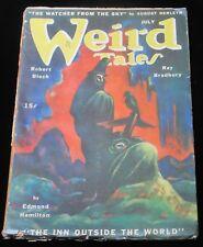 WEIRD TALES Pulp Magazine BLOCH BRADBURY DERLETH Lee Brown Coye JULY 1945