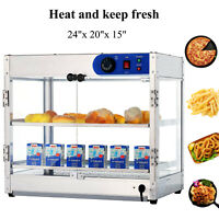 "24""x20""x15"" Countertop Commercial Food Pizza Heat Warmer Cabinet Display Case"