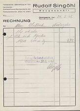 OBERGEBRA, Rechnung 1942, Baugeschäft Rudolf Singöhl