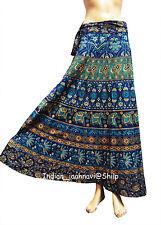 Indian Women Ethnic Floral Rapron Printed Cotton Long Skirt Wrap Around Skirt_8