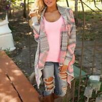 Jacket Outwear Jumper Long Sleeve Lady's Cardigan Knitted Sweater Shawl Coa Z6O2