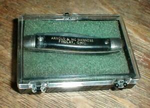 Vintage Colonial Stainless 2-Blade Advertising Pocket Knife & Original Case