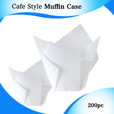 CAFE STYLE WHITE TULIP MUFFIN CASES 200/PC - P30 MINI 110X110 CM CUPCAKE BOXES