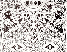 5 x A4 BLACK & WHITE TULIP PAISLEY printed card stock card making paper crafts