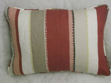 "JOHN LEWIS FABRIC BRAID STRIPE OBLONG CUSHION  20"" X 14 ""(51 CM X 36 CM)"
