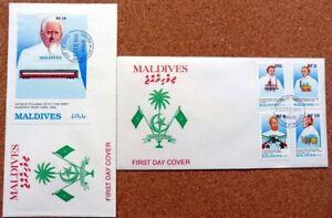 MALDIVE IS 1989 RAILWAY PIONEERS FDC's (ID:638/D4378)