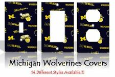 Michigan Wolverines #2 Light Switch Covers Football NCAA Home Decor Outlet