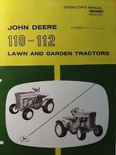 John Deere 110 112 Round Fender Lawn Garden Tractor Owners Manual Om M41987 D6