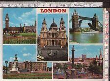 CARTOLINA POST CARD (LONDRA LONDON, BIG BEN, TOWER BRIDGE, TRAFALGAR SQUARE)