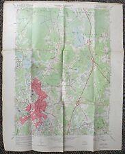 Map Dept Of Interior Geological Survey Usgs 1962 Taunton Quadrangle Ma