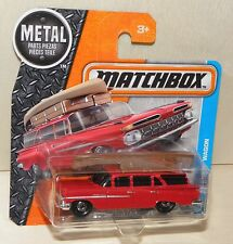 Matchbox '59 CHEVY WAGON rot mit KANU auf Gepäck-Träger Oldtimer Modell-Auto NEU