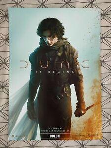 Dune It Begins ODEON A3 Poster 2021 Movie Film Cinema Timothee Chalamet