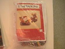 "NOS Plastic Canvas Temptations 8135 Santa in his Sleigh 20"" x 11""  NIP"