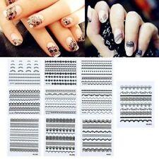 Decorazioni neri adesivi senza marca per unghie