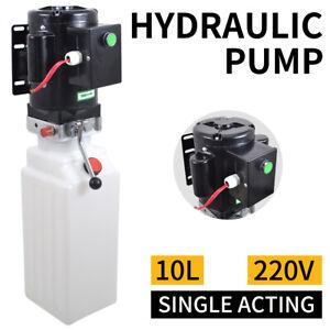 10L Pompe hydraulique Groupe 220V Volts Électrique Unité de puissance Levage