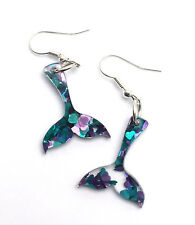 Mermaid Earrings Laser Cut Acrylic Jewellery Gift Ideas For Her