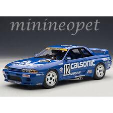 AUTOAart 89080 NISSAN SKYLINE GT-R R32 GROUP A 1990 CALSONIC #12 1/18 w FIGURE