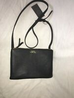 Vince Camuto Amira Crossbody Bag Leather Black NEW