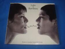 MAXI CD 2 TITRES / LULU & BAMBOU / NE DIS RIEN / SERGE GAINSBOURG / VG+++/M
