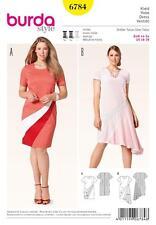 BURDA SEWING PATTERN LADIES PLUS SIZE DRESS SIZE 18 - 28 6784