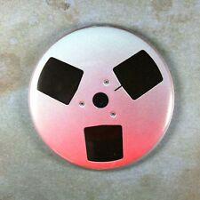 "Vintage  Reel to Reel Spool Fridge Magnet 2 1/4""  Audio Tape Player"