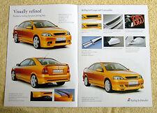 VAUXHALL ASTRA Coupé & Cabriolet Irmscher Brochure 2002