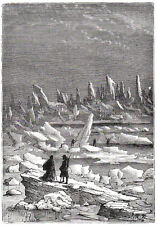 1960's vintage print of ICE FLOWS #2 reprinted from an original engraved print