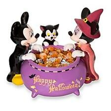 DISNEY HALLOWEEN MICKEY MOUSE MINNIE FIGARO  FIGURE LARGE CANDY BOWL/DISH NEW