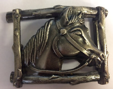 Large Horses Head Belt Buckle. Fits belts up to 50mm wide!!