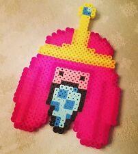 Princess Bubblegum gangster perler kandi necklace Adventure Time rave EDC PLUR