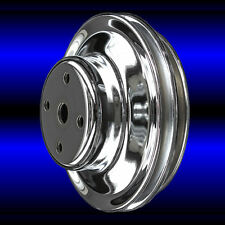 Water Pump Pulley 2 Groove For Big Block Chevy Lwp 396 427 454 Chrome Bbc