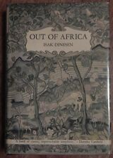 Out of Africa by Isak Dinesen - 1st Edition in Nice Plastic Cover! 1938