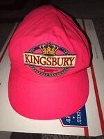 Vintage Kingsbury Beer Crown Logo Big Spell Out Hat Neon Pink Beach Panel