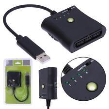 For PS2 to Xbox 360 Controller Gamepad Joypad Joystick Adapter Converter Black