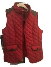 NWT Metric Knits women's quilted vest; Equestrian Style