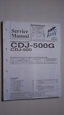 Pioneer cdj-500 g service manual original repair book stereo cd player
