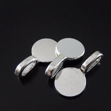 8PCS Silver Tone Alloy Round Charm Pendant Bail 16*10*5mm Jewelry Finding 31332