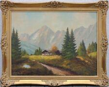 Zillertaler Alpen  Ölgemälde dekorativ gerahmt  78 X 98 cm