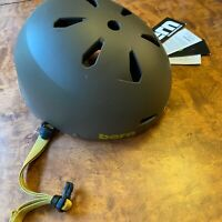 Bern Macon Mens EPS Bike Cycle Helmet Thin Shell Crank System L-XL Grey