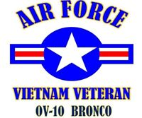 VIETNAM VETERAN OV-10  BRONCO AIR FORCE SHIRT
