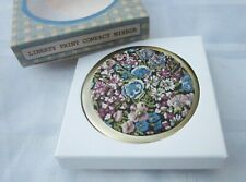 Andrea Garland Liberty of London Fabric Print Compact Mirror Floral Chive Purple
