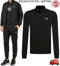 Mens Emporio Armani EA7 Tracksuit Sets - Armani Top and Bottoms Set for Training