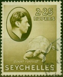 Seychelles 1942 2R25 Olive SG148a Ordin Paper Fine Used
