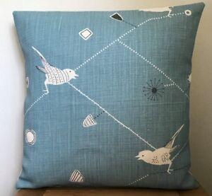 Vanessa Arbuthnott **DAWN CHORUS** Linen  Cushion Cover in Teal